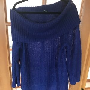 Torrid Blue Cowl Neck Sweater Sz 2